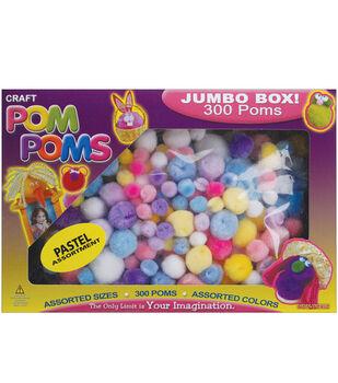 Pom Poms-300PK/Pastel Colors