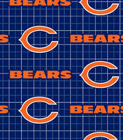 Chicago Bears NFL Flannel Fabric by Fabric Traditions, , hi-res