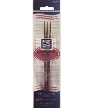 Natural Hair Sable Brush Set-3/Pkg