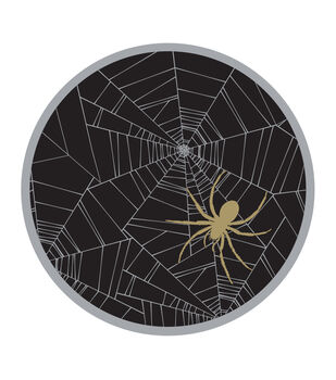 Maker's Halloween 8ct Dinner Paper Plates-Spider Web