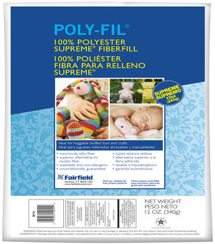 Poly-Fil Supreme® Ultra Plush Fiber Fill 12 ounce Bag