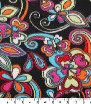 Blizzard Fleece Fabric-Kaleidescope Floral