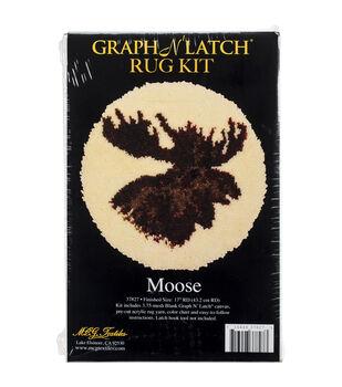 MCG Textiles Latch Hook Kit 18''-Moose