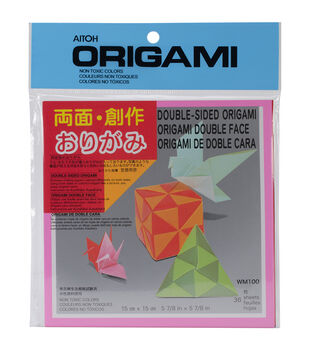 Aitoh Double Sided Origami Paper 36/Pkg