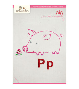 Penguin & Fish Embroidery Patterns-Pig