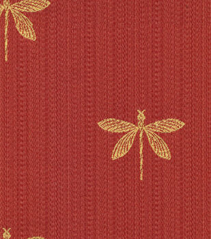 Swavelle Millcreek Upholstery Fabric Imperial Dragonfly Marachino