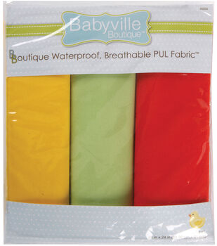 """Babyville Boutique 21""""x24"""" Solid Waterproof Diaper Fabric Neutral"""