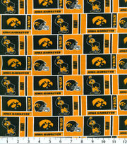 University of Iowa NCAA Herringbone Cotton Fabric, , hi-res