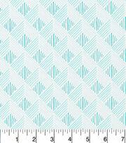 Cloud 9 Premium Cotton Fabric-Zig Zag Turq, , hi-res