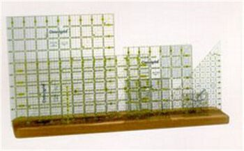 "Omnigrid® Wooden Ruler Rack-20""x4""x3/4"""