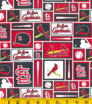 St. Louis Cardinals MLB Patch Cotton Fabric, , hi-res