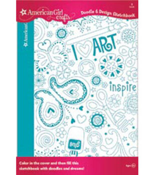 American Girl Doodle & Design Sketchbook 40 pages-Art