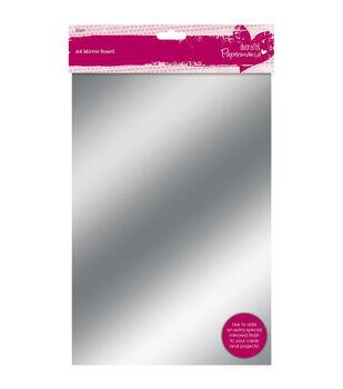 Papermania 250gsm Mirror Board A4 20/Pkg-Gold & Silver