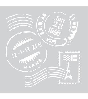 "Plastic Stencil 8""X8""-Stamps"