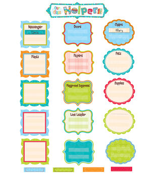 Dots-On-Turquoise Collection: Our Class Helpers Mini Bulletin Board Set