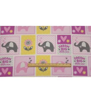 Nursery Fleece Fabric-Dream Big Patch