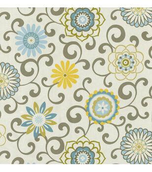 Waverly Upholstery Fabric-Pom Pom Play Spa