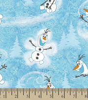 Disney Frozen Olaf Cotton Fabric, , hi-res