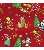 Holiday Inspirations Fabric-Merry Mickey, , hi-res