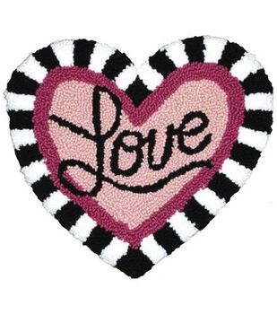 MCG Textiles Hearts And Love Pillow Punch Needle Kit