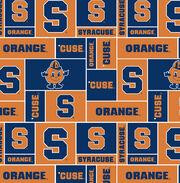 Syracuse NCAA Block Fleece Fabric, , hi-res