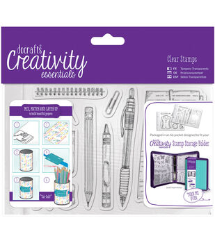 Docrafts Creativity Essentials A6 Clear Stamp Set-Stationery