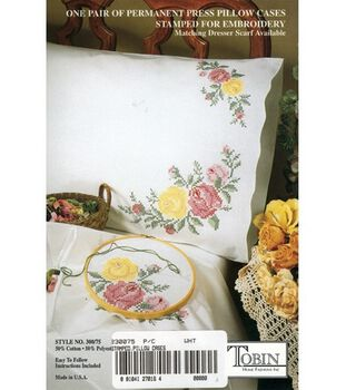 Tobin Stamped Pillow Case Pair Rose Classic