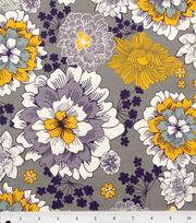 Keepsake Calico™ Cotton Fabric-Flourish Flower Gray Med, , hi-res