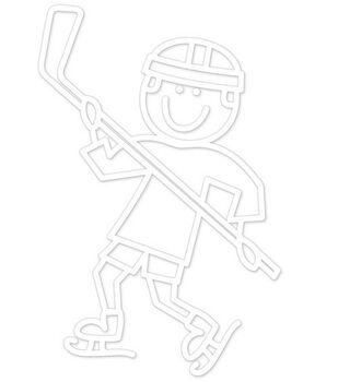 Plaid® Me&My Peeps Family Auto Decal-Hockey Boy