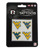 West Virginia University NCAA Peel & Stick Tattoos, , hi-res