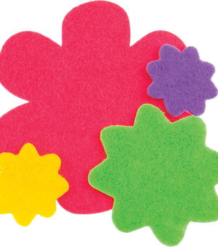 Stick It Felt Shapes 24PKg-Flowers