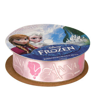 "Frozen Ribbon 7/8""x9'-Anna Silhouette"