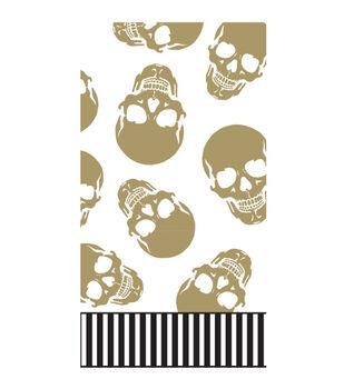 Maker's Halloween 16ct Paper Napkins-Gold Skulls