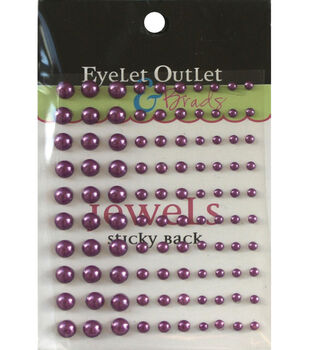 Eyelet Outlet Bling Self-Adhesive Pearl Multi Size