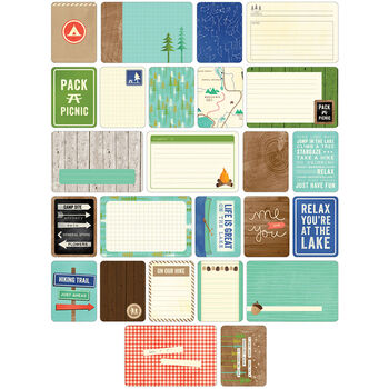 Project Life Themed Cards 60/Pkg-Great Outdoors