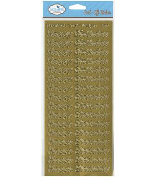Elizabeth Craft Designs Happy Birthday Peel Off Sticker Large