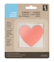 Inkadinkado Unmounted Rubber Stamp Carving Surface-Heart, , hi-res