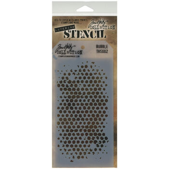 Stampers Anonymous Tim Holtz Layered Stencil Bubble