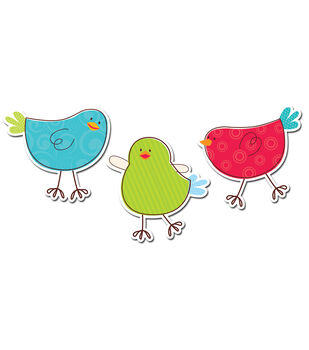 "Tweeting Birds 10"" Jumbo Cut-Outs"