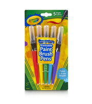 Crayola 5ct No Drip Paint Brush Pens, , hi-res