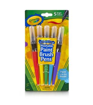 Crayola 5ct No Drip Paint Brush Pens