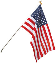 Sea To Shining Sea 30''x48'' USA Flag With Steel Pole, , hi-res