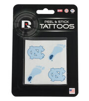University of North Carolina NCAA Peel & Stick Tattoos, , hi-res