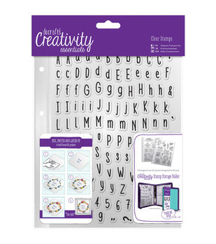 Docrafts Creativity Essentials A5 Clear Stamp Set-Alphas Folk