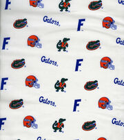 University of Florida NCAA White Cotton Fabric, , hi-res