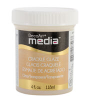 DecoArt Media Crackle Glaze 4oz-Clear, , hi-res