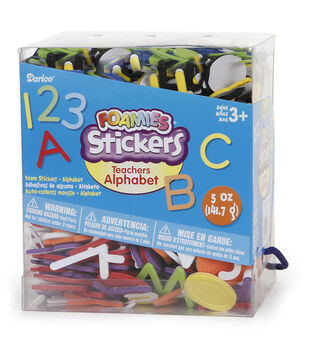 Foam Sticker Bucket-Teacher's Alphabet Letters