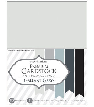 Core'dinations Cardstock Gallant Greys