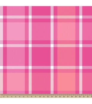 Blizzard Fleece Fabric-Bruno Plaid Pink