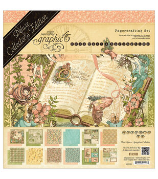 Graphic 45 Deluxe Collector's Edition Once Springtime Papercrafting Set